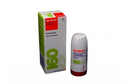 Symbicort Polvo Para Inhalación Oral 160 mcg / 4.5 disos Caja Con Frasco Con 60 Dosis Rx4