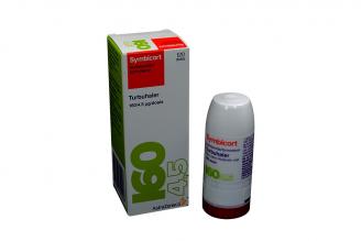 Symbicort Turbihaler 160 / 4.5 mgc Caja Con Frasco Con 120 Dosis Rx