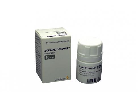 Losec Mups 10 mg Caja Con 14 Tabletas Rx