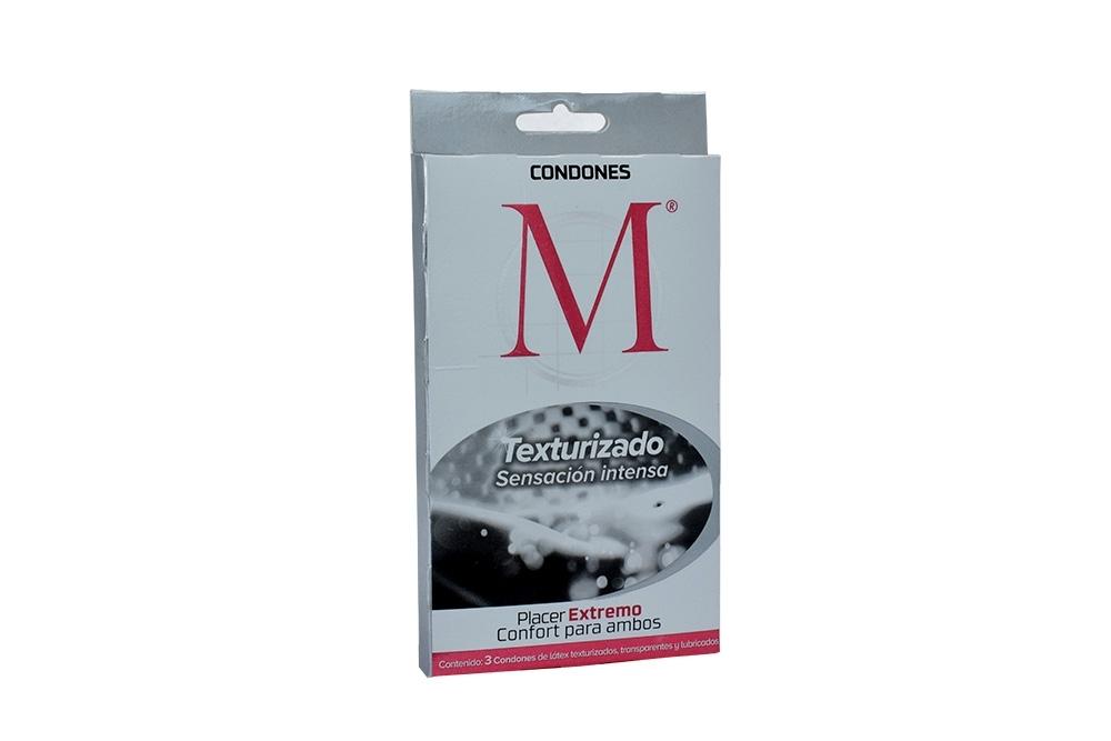 Condones M Texturizados Caja Con 3 Unidades