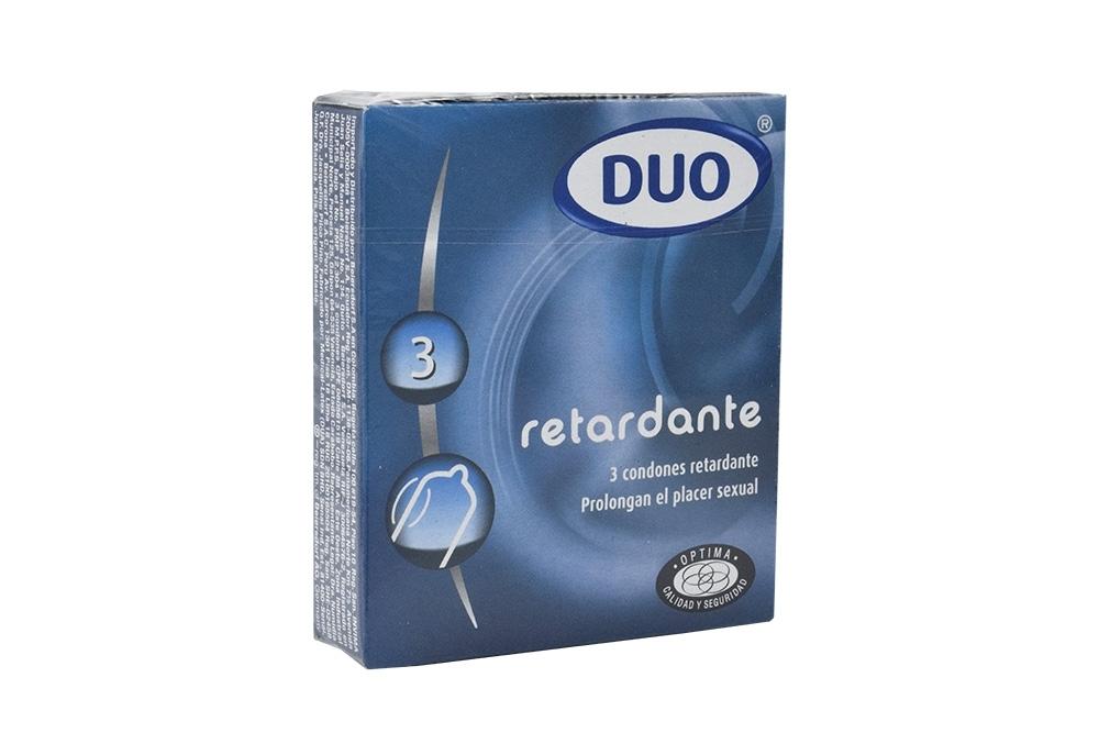 Condones Duo Retardante Caja Con 3 Unidades