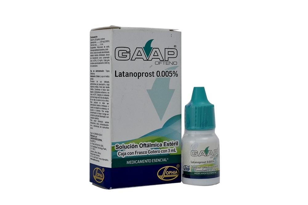 Gaap Ofteno Solución Oftálmica 0.005 % Caja Con Frasco Gotero Con 3 mL Rx4