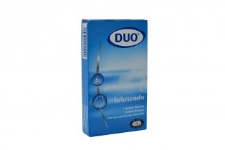 Condones Duo Lubricado Caja Con 6 Unidades