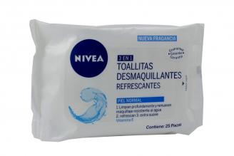 TOALLAS DESMAQUILLADORAS REFRESCANTES - 25 UNIDADES - PIEL FRESCA
