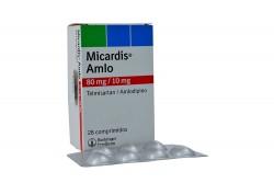 Micardis Amlo 80 / 10 mg Caja Con 28 Comprimidos Rx