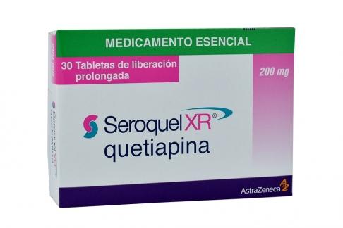 Seroquel XR 200 mg Caja Con 30 Tabletas De Liberación Prolongada Rx4 RX1