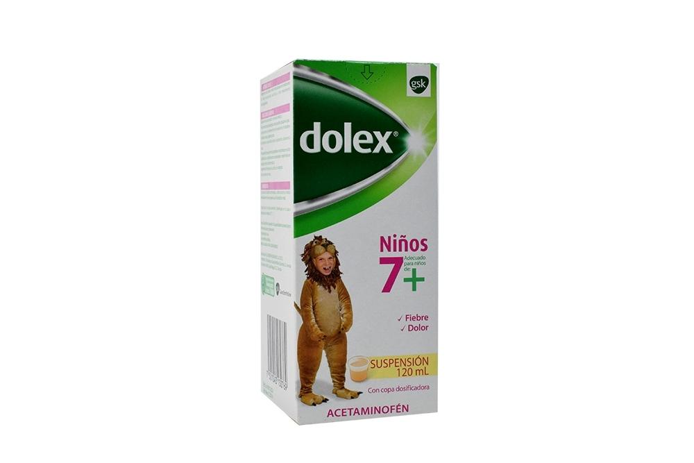 Dolex Niños 7+ Suspensión 250 mg / 5 mL Caja Con Frasco Con 120 mL