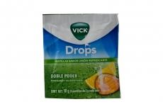 Vick Drops Sobre Con 5 Pastillas Con 2 g C/U – Sabor Limón