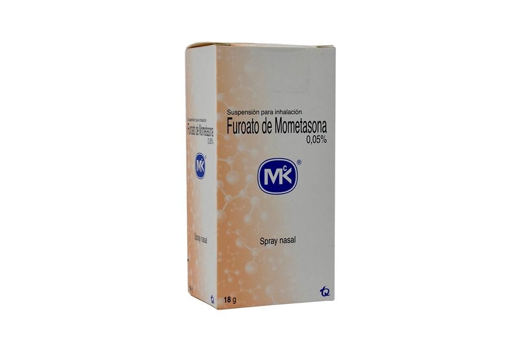 Furoato de Mometasona 0.05 % Spray Nasal Caja Con Frasco Con 18 g Rx