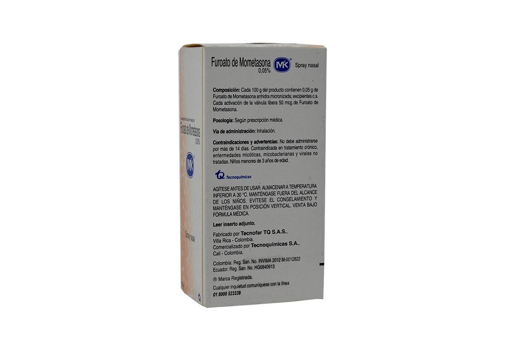 Comprar Furoato De Mometasona 0.05% X 18g. En Farmalisto