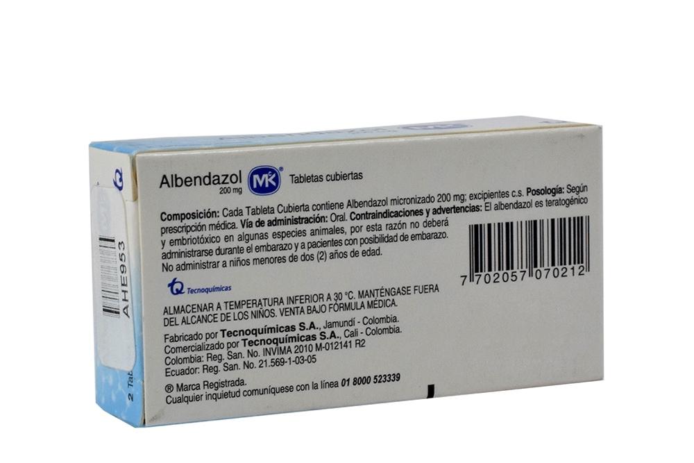 ALBENDAZOL MK - Indicaciones, Dosificación ... - Meditodo