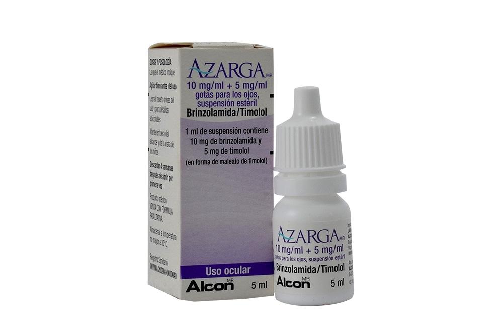Azarga Solución Oftálmica Caja Con Frasco Con 5 mL Rx