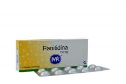 Ranitidina 150 mg Caja X 10 Tabletas Recubiertas Rx