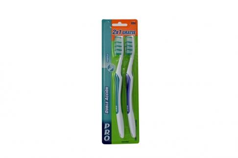 Cepillo Dental Pro 2x1 Empaque Con 2 Unidades