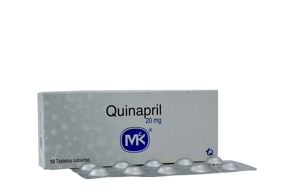 Quinapril 20 mg Caja Con 10 Tabletas Rx