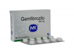 Gemfibrizilo 600 mg Caja Con 20 Tabletas Recubiertas Rx