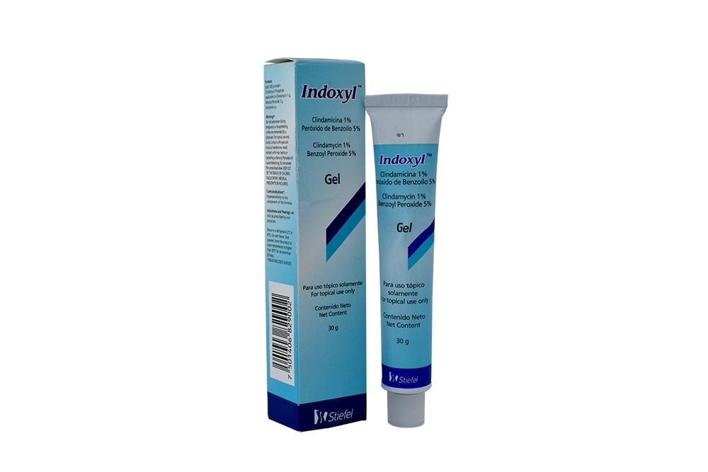 Indoxyl Gel 1 % Caja Con Tubo 30 g Rx3