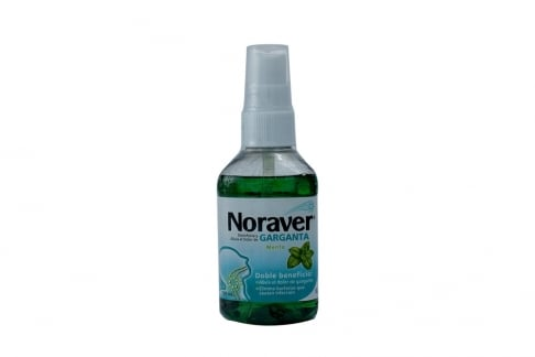 Noraver Garganta Frasco Spray Con 120 mL - Sabor Menta