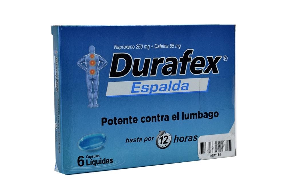 Durafex Espalda 250 / 65 mg Caja Con 6 Cápsulas Líquidas