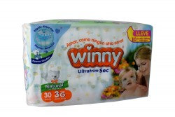 Winny Ultratim Sec Paca Con 30 Pañales – Etapa 3 G