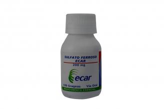 Sulfato Ferroso 200 mg Frasco Con 100 Grageas Rx