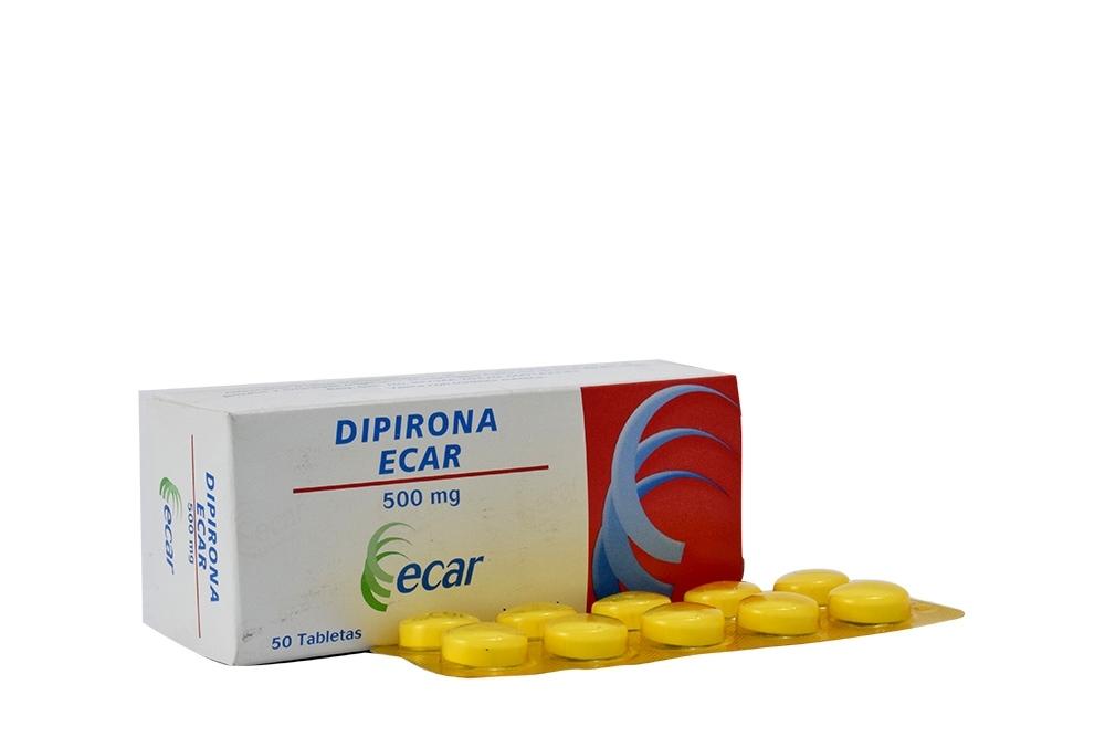 Dipirona 500 mg Caja Con 50 Tabletas Rx