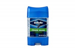 Desodorante Gillette Gel Power Beads Rush Frasco 82 g