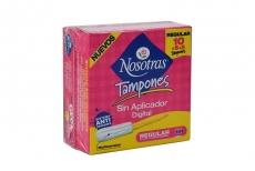 Tampones Nosotras Digital Flujo Regular  Caja Con 10 Unidades