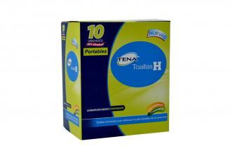 Toalla Humedas Tena H Portable Caja Con 10 Unidades