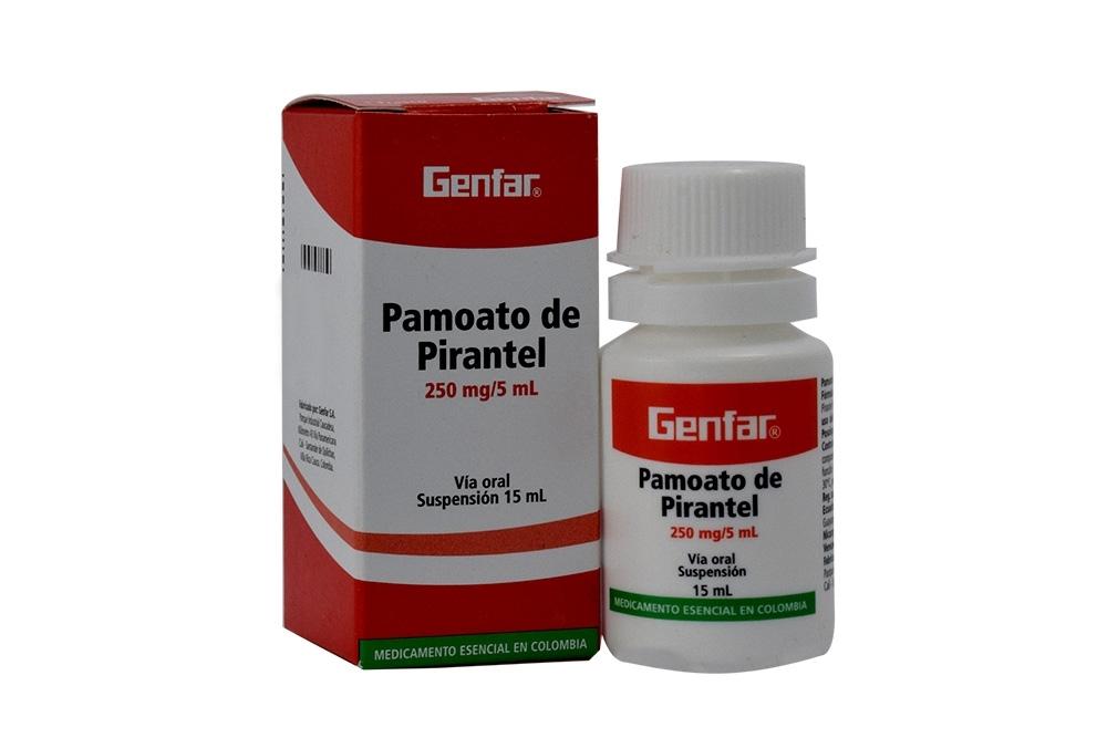 Pamoato De Pirantel 250 mg/ 5 mL Caja Con Frasco Con 15 mL Rx