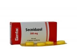 Secnidazol 500 mg Caja Con 4 Tabletas Recubiertas Rx