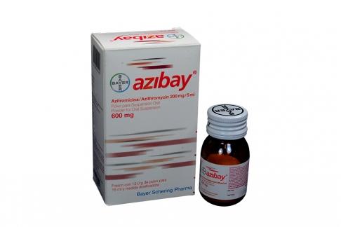 Azibay Polvo 600 mg Caja Con Frasco x 15 mL RX2