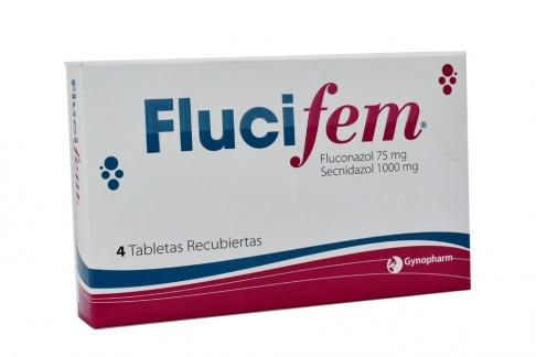 Flucifem 75 / 1000 mg Caja x 4 Tabletas Recubiertas Rx