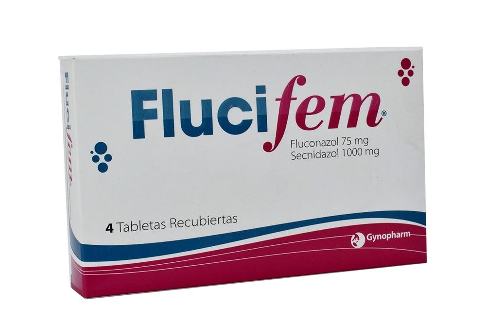 Flucifem 75 / 1000 mg Caja Con 4 Tabletas Recubiertas Rx