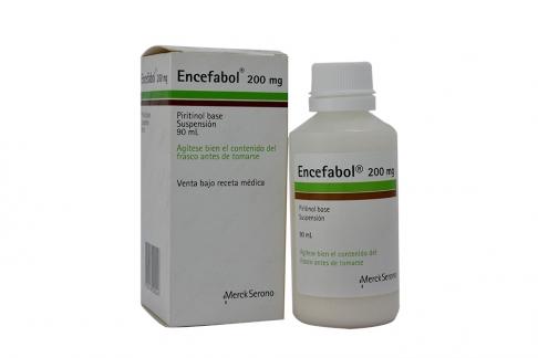 Encefabol Suspensión 200 mg Caja Con Frasco Con 90 mL Rx4