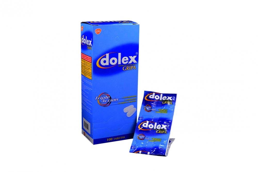 Dolex Gripa Triple Acción Caja Con 100 Tabletas