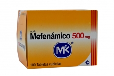 Ácido Mefenámico 500 mg Caja X 100 Tabletas Rx
