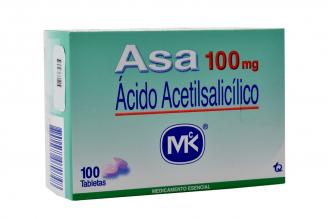 Asa 100 mg Caja Con 100 Tabletas