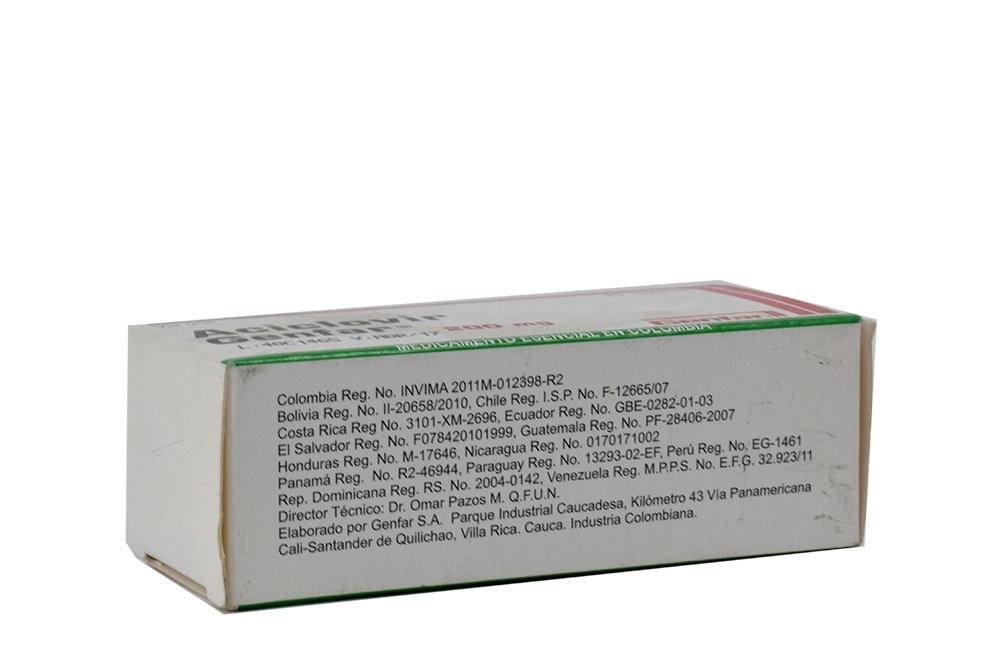 Aciclovir Tabletas 400 Mg