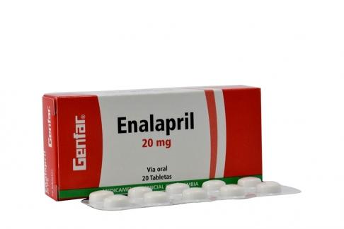 Enalapril 20 Mg Caja X 20 Tabletas Rx