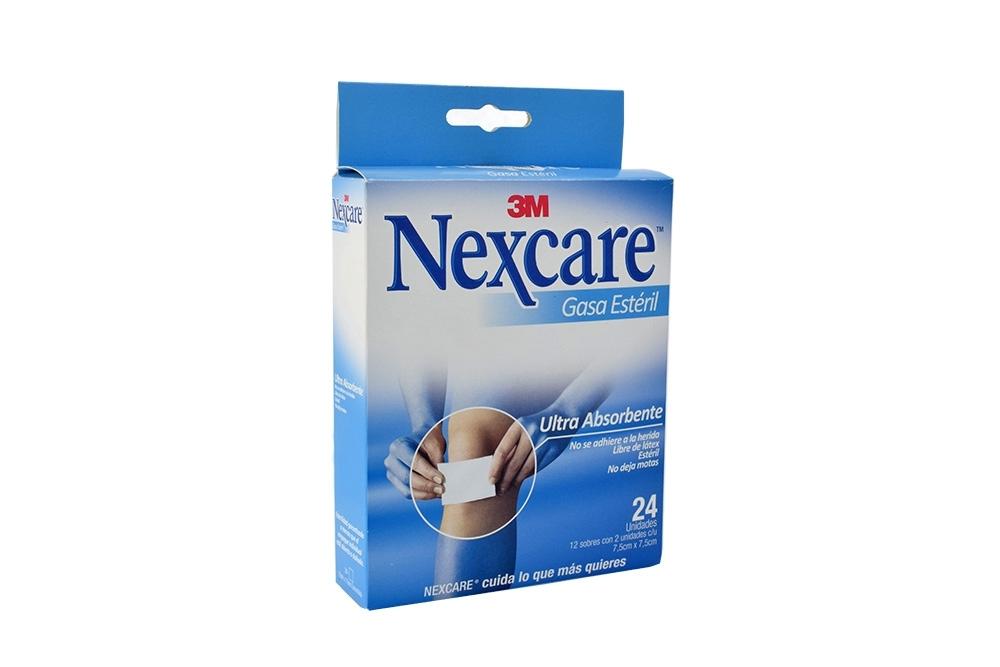 Nexcare Gasa Estéril 7.5 cm x 7.5 cm Caja Con 24 Unidades