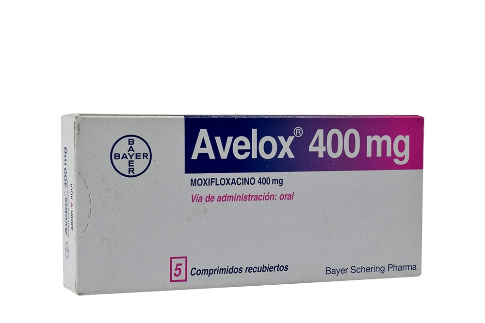 Avelox 400 mg Caja Con 5 Comprimidos Rx2