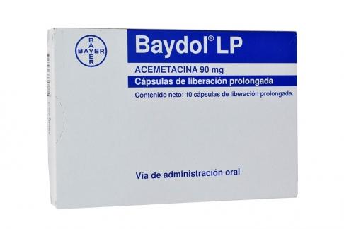 Baydol LP 90 mg Caja x 10 Cápsulas Rx
