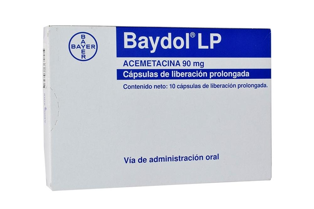 Baydol LP 90 mg Caja Con 10 Cápsulas Rx