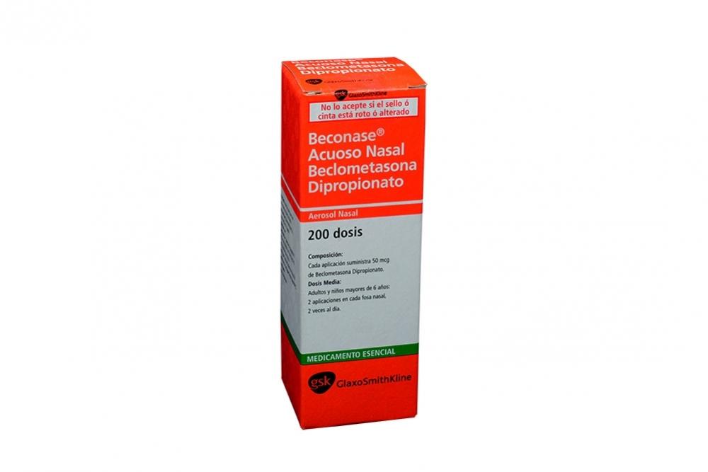 Beconase Acuoso Nasal Caja Con Frasco Con 200 Dosis Rx