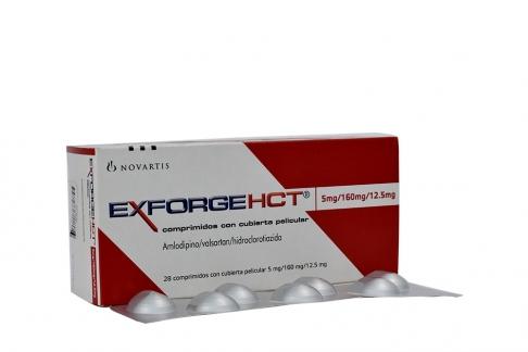 Exforge HCT 5 / 160 / 12.5 mg Caja Con 28 Comprimidos Con Cubierta Peliculiar Rx