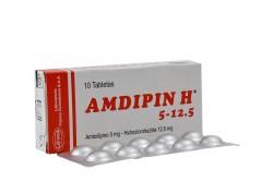 Amdipin H 5 / 12.5 mg Caja Con 10 Tabletas Rx4
