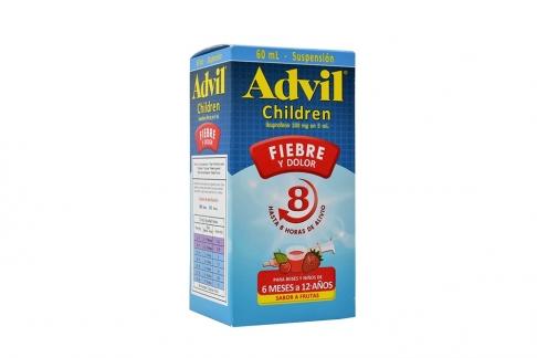 ADVIL CHILDREN JARABE SABOR A FRUTAS FRASCO X 60 ML