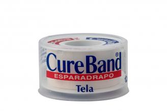 """Cureband Esparadrapo Tela 1"""" x 5 Yardas Estuche Con 1 Unidad"""
