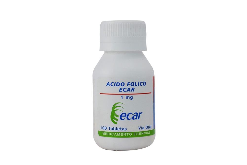 Ácido Fólico 1 mg Caja Con 100 Tabletas Rx